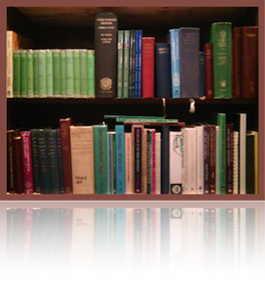 Bookshelf with Greek Books